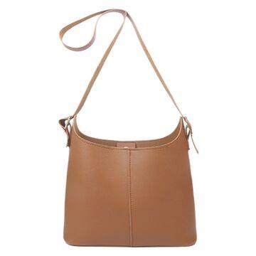 Женская сумка+косметичка, коричневая П3085