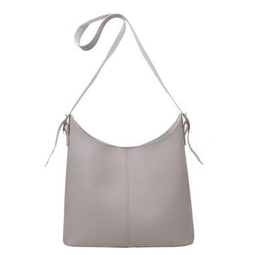 Женская сумка+косметичка, серая П3086