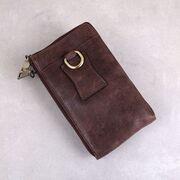 "Мужское портмоне, сумка ""Contact'S"", коричневое П3113"