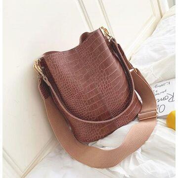 Женская сумка на плечо, розовая П3125