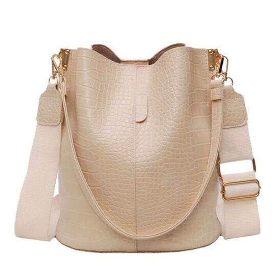 Женская сумка на плечо, бежевая П3126