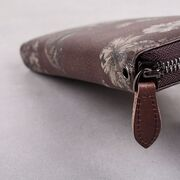 Женский кожаный кошелек, коричневый П3129