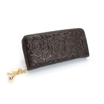 Женские кошельки - Женский кошелек, коричневый П0214