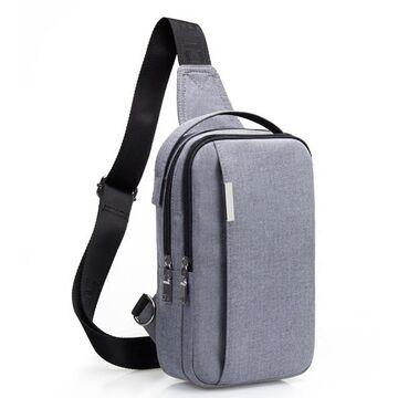 """Мужская сумка на плечо """"AyeBeau"""", серая П3132"""