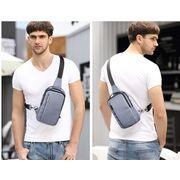 "Мужская сумка на плечо ""AyeBeau"", черная П3133"