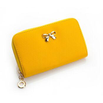 Женский кошелек, желтый 0215