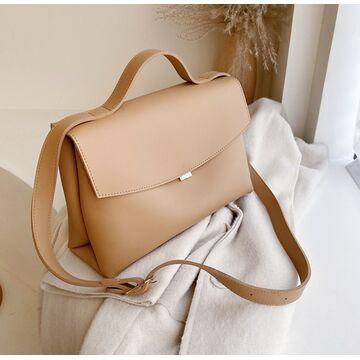 Женская сумка, бежевая П3142
