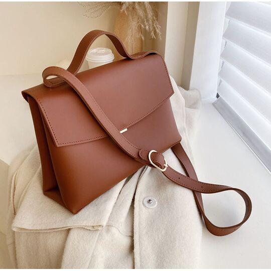 Женская сумка, коричневая П3144