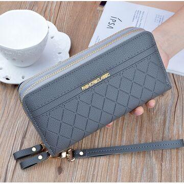 Женский кошелек, серый П3163