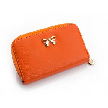 Женские кошельки - Женский кошелек, оранжевый П0218