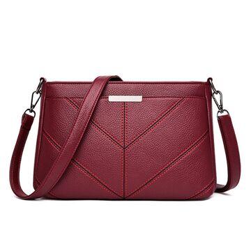 Женская сумка клатч, красная П3170