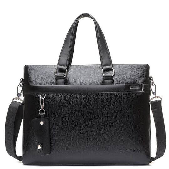 Мужская сумка портфель VORMOR для ноутбука, черная П3179