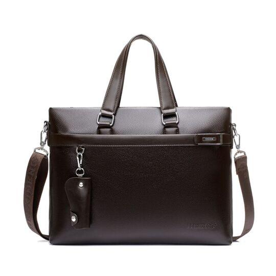 Мужская сумка портфель VORMOR для ноутбука, коричневая П3180