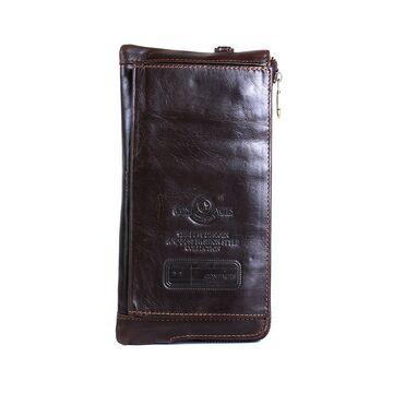 Мужской кошелек Contact'S, коричневый П0220