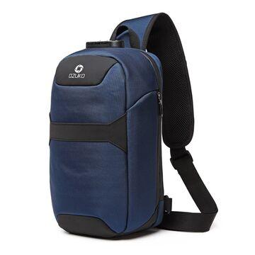 Мужская сумка слинг OZUKO, синяя П3198