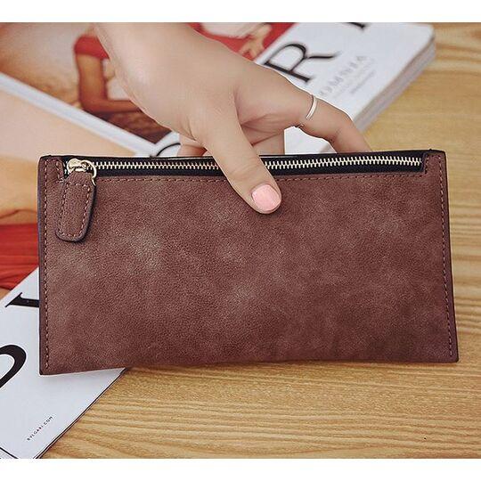 Женские кошельки - Женский кошелек, коричневый П0222