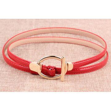 Женский ремень, красный П3240