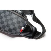 Мужская сумка на пояс, черная П3250