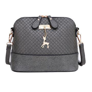 Женская сумка, серая П0227