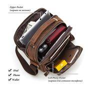 """Мужская сумка """"KAVIS"""", коричневая П3261"""