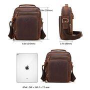 """Мужская сумка """"KAVIS"""", коричневая П3262"""