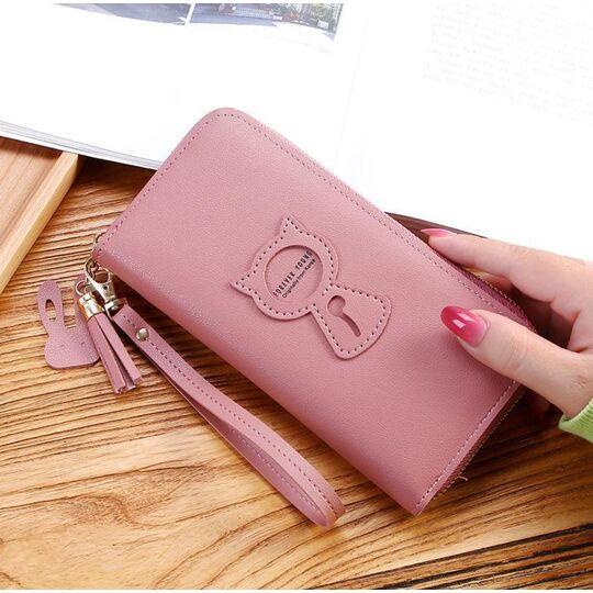 Женский кошелек, розовый П3264