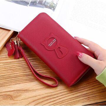 Женский кошелек, красный П3266