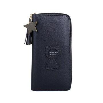 Женский кошелек, черный  П3267