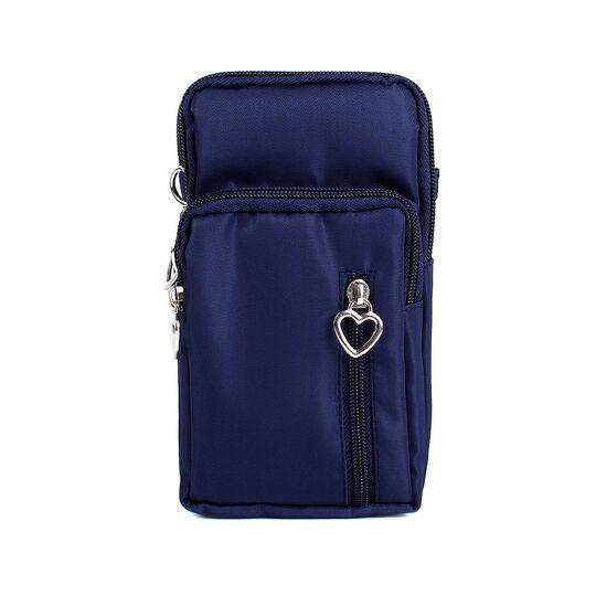 Женская сумка клатч, синяя П3285