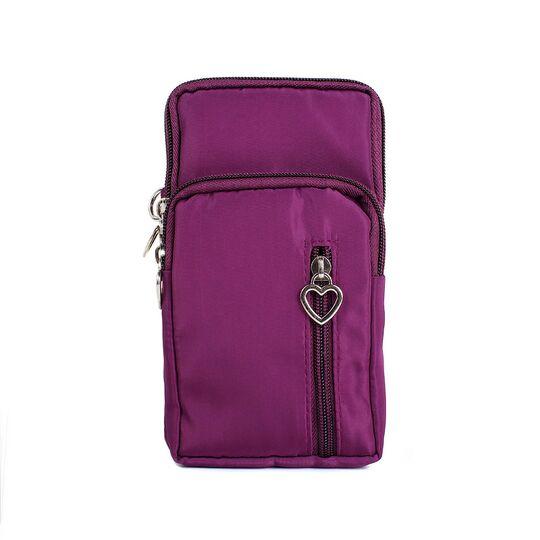 Женская сумка клатч, красная П3286