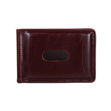 Зажим, кошелек коричневый П0232