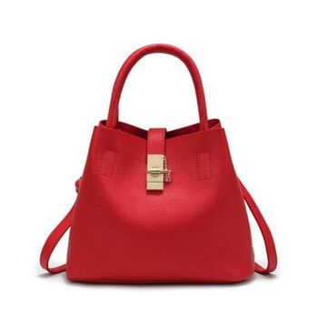 Женская сумка, красная 0234