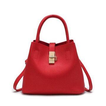 Женская сумка, красная П0234