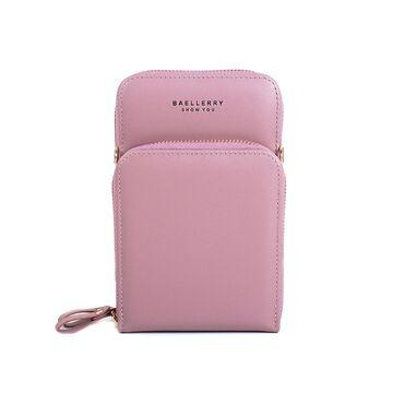 "Женская сумка клатч ""Baellerry"", розовая П3335"