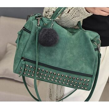 Женская сумка, зеленая - 0236