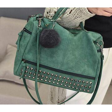 Женская сумка, зеленая - П0236
