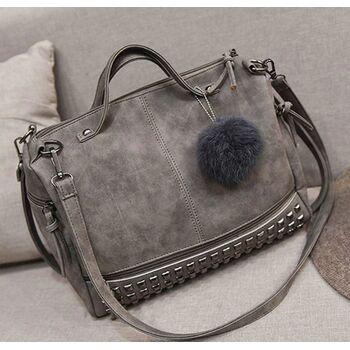 Женская сумка, серая 0237