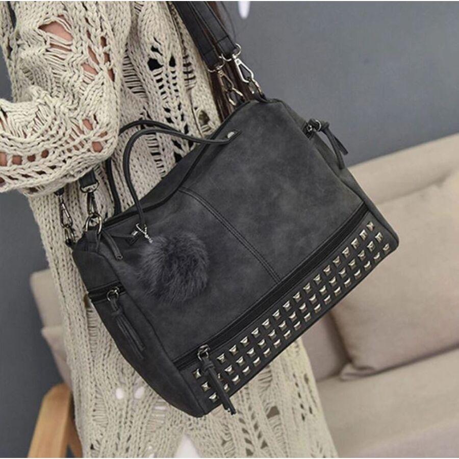 Женские сумки - Женская сумка, черная П0238