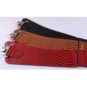 Широкий женский ремень, красный П3398