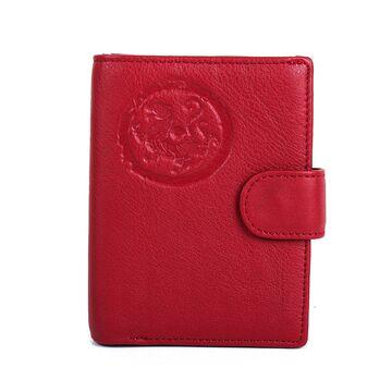 """Обложка для паспорта """"Contact'S"""", красная П3413"""