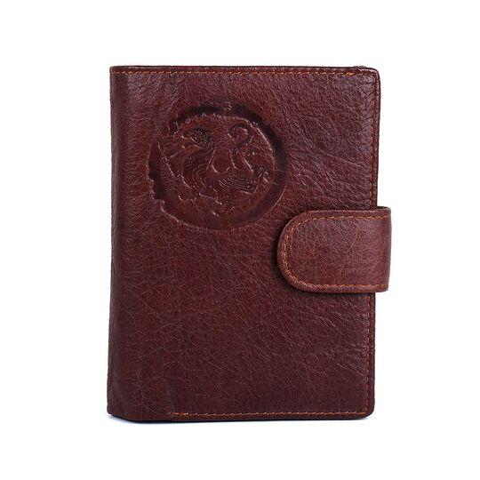 """Обложка для паспорта """"Contact'S"""", коричневая П3414"""