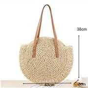 Женская соломенная сумка-шопер, П3735