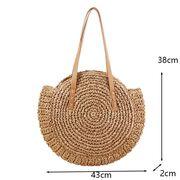 Женская соломенная сумка-шопер, П3736
