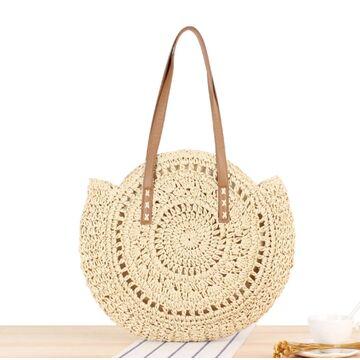 Женская соломенная сумка-шопер, П3737