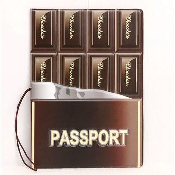 """Обложка для паспорта """"Шоколадка"""", П3754"""