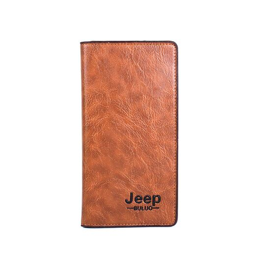 """Мужской кошелек """"JEEP BULUO"""", коричневый П3768"""