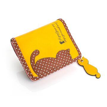 Женский кошелек, желтый П0249