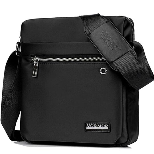 """Мужская сумка """"VORMOR"""", черная, П3795"""