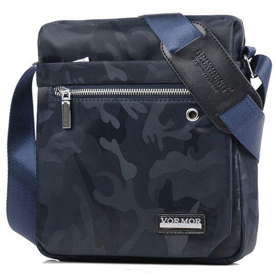 """Мужская сумка """"VORMOR"""", синяя, П3796"""