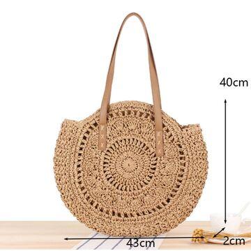 Женская соломенная сумка-шопер, П3803
